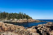Rocky coastline, Acadia National Park, Mount Desert Island, Maine, USA.