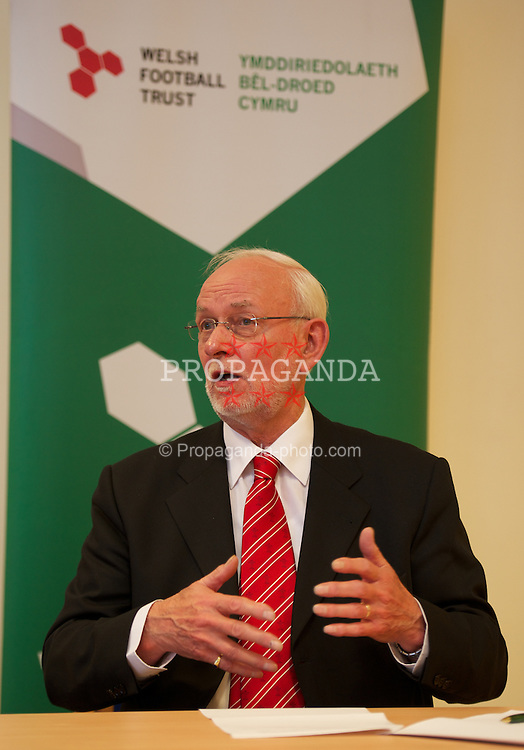 NEWPORT, WALES - Wednesday, July 4, 2012: Newport City Council Leader Bob Bright at a press conference as the Football Association of Wales opens the first 3G pitch at the National Development Centre at the Newport International Sports Village. (Pic by David Rawcliffe/Propaganda)