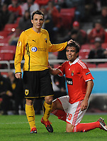 20091217: LISBON, PORTUGAL - SL Benfica vs AEK Athens: Europa League 2009/2010 - Group Stage. In picture: Miguel Vitor (Benfica) and Gustavo Manduca (AEK Athens FC). PHOTO: Alvaro Isidoro/CITYFILES