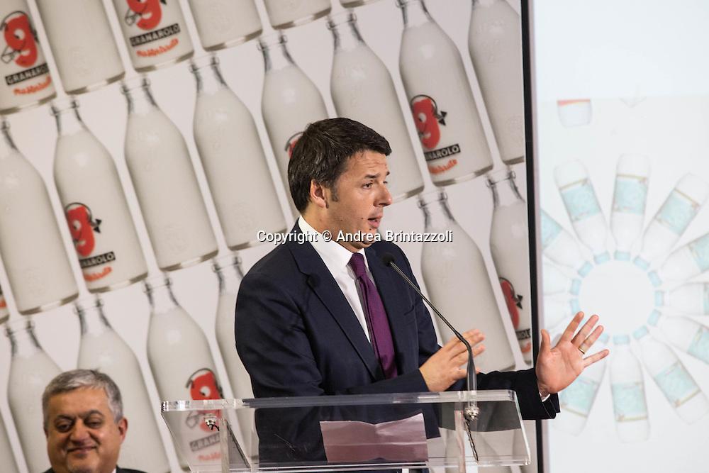 Bologna 10 Gennaio 2015 Il premier Renzi in visita alla Granarolo<br /> Nella Foto: Matteo Renzi Presidente del Consiglio