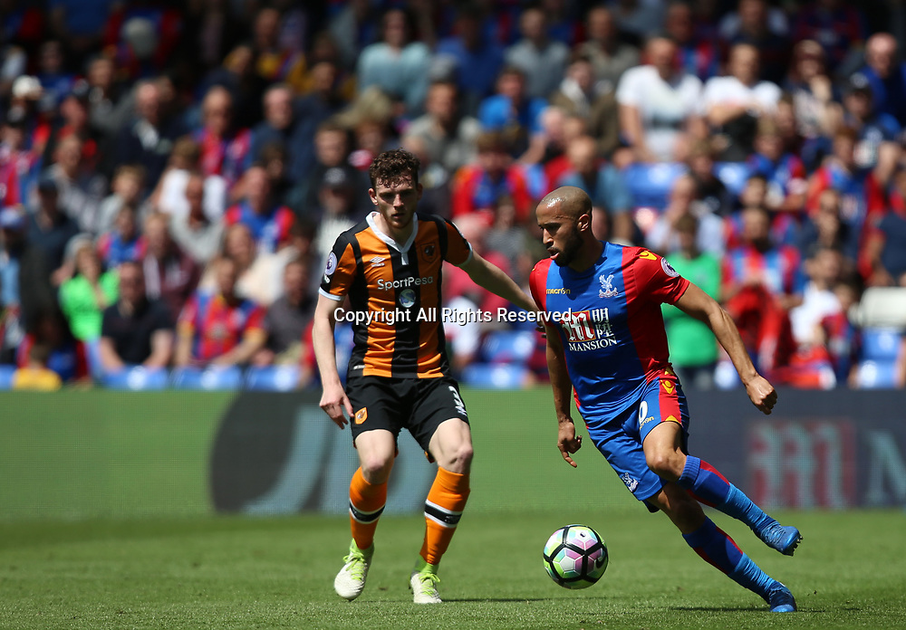 May 14th 2017, Selhurst Park, London, England; EPL Premier League football, Crystal Palace versus Hull Tigers; Andros Townsend of Crystal Palace on the ball