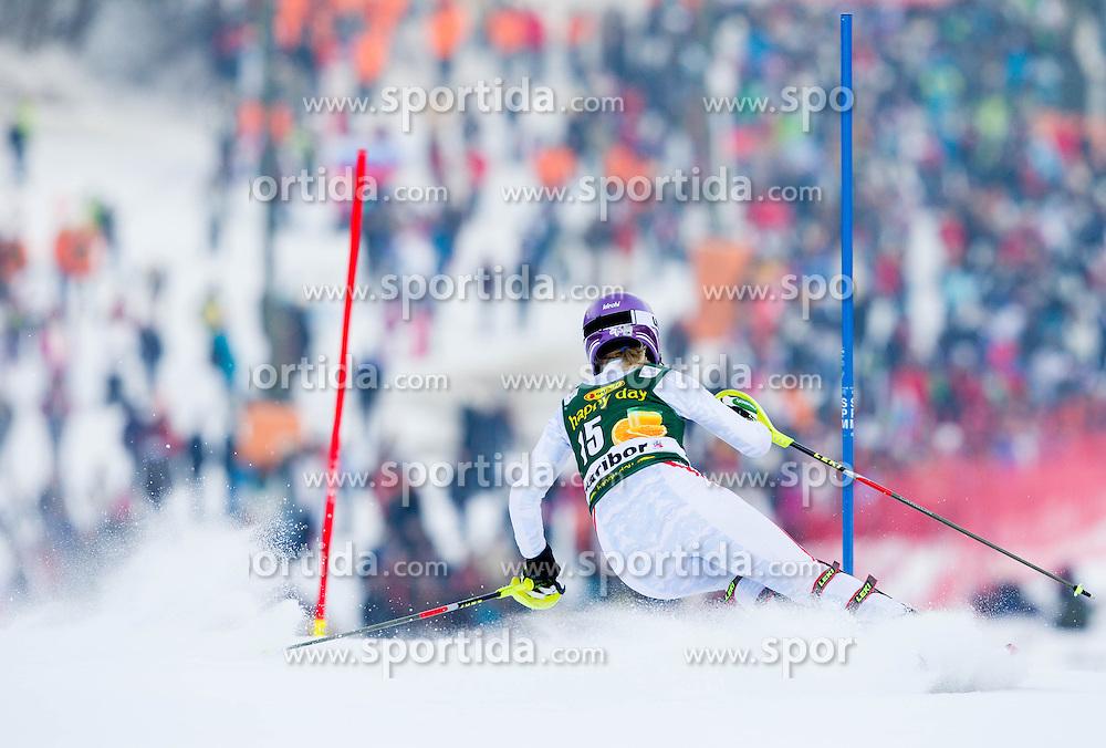 "KIRCHGASSER Michaela (AUT) competes during 1st Run of FIS Alpine Ski World Cup 7th Ladies' Slalom race named ""49th Golden Fox 2013"", on January 27, 2013 in Mariborsko Pohorje, Maribor, Slovenia. (Photo By Vid Ponikvar / Sportida.com)"