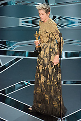 March 4, 2018 - Hollywood, California, U.S. - Frances McDormand accepts the Oscar for performance by an actress in a leading role for work on Three Billboards Outside Ebbing, Missouri during the live ABC Telecast of The 90th Oscars at the Dolby Theatre in Hollywood. (Credit Image: © Valerie Durant/AMPAS via ZUMA Wire/ZUMAPRESS.com)