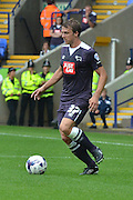 Stephen Warnock on the ball during the Sky Bet Championship match between Bolton Wanderers and Derby County at the Macron Stadium, Bolton, England on 8 August 2015. Photo by Mark Pollitt.