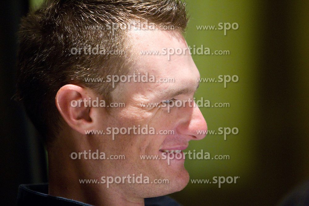 Slovenian rider Grega Bole of Lampre at press conference before cycling race Tour de France 2011, on June 27, 2011, in Crnuce, Ljubljana, Slovenia. (Photo by Vid Ponikvar / Sportida)