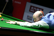 Mar 28, 2016 - Beijing, China - Gary Wilson of England plays a shot during the first round match against Stephen Maguire of Scotland on day one of China Open at Beijing University Students' Gymnasium. (Credit Image: © Exclusivepix Media)