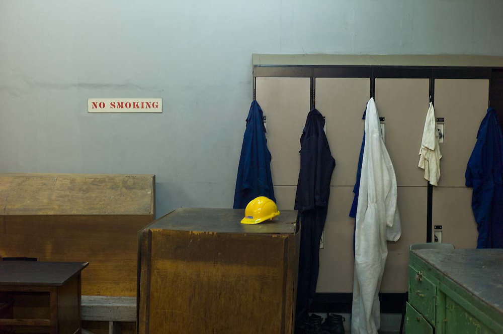 Employees changing room at Akosombo dam, 2011