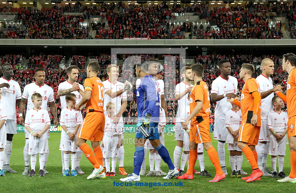 Brisbane Roar and Liverpool during the pre season friendly match at Suncorp Stadium, Brisbane<br /> Picture by Steven Gibson/Focus Images Ltd +61 413 768835<br /> 17/07/2015
