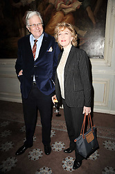 PATRICIA HODGE and PETER OWEN at a party to celebrate Penguin's reissue of Nancy Mitford's 'Wigs on The Green' hosted by Tatler at Claridge's, Brook Street, London on 10th March 2010.