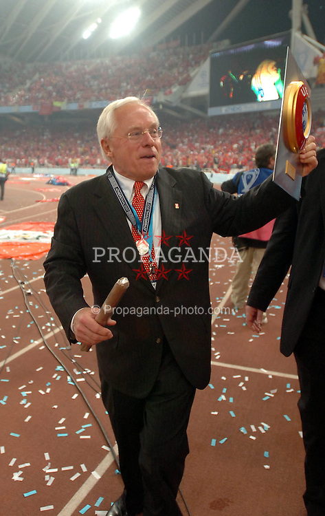 Athens, Greece - Wednesday, May 23, 2007: Liverpool's owner George Gillette after losing 2-1 to AC Milan, during the UEFA Champions League Final at the OACA Spyro Louis Olympic Stadium. (Pic by Jason Roberts/Propaganda)