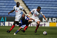Photo: Pete Lorence.<br />Leicester City v Portsmouth. Pre Season Friendly. 04/08/2007.<br />Sean Davis and Iain Hume battle for the ball.