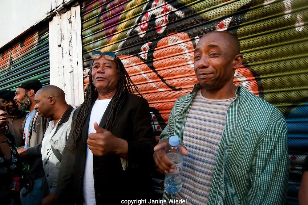 People celebrating at annual Brixton Big Splash festival