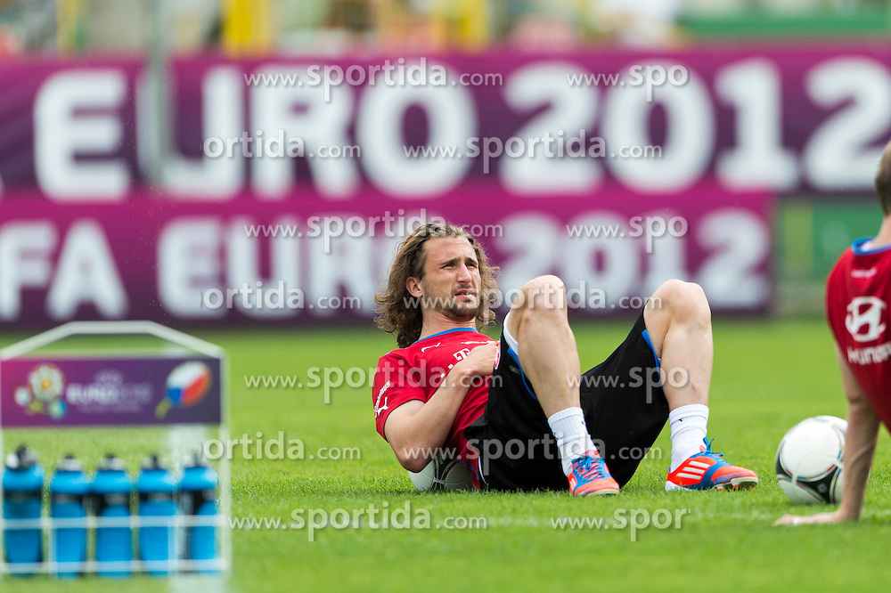 09.06.2012, Stadion Oporowski, Breslau, POL, UEFA EURO 2012, Tschechische Republik, Training, im Bild PETR JIRACEK Czech Republic // during the during EURO 2012 Trainingssession of Czech Nationalteam, at the stadium Oporowski, Breslau, Poland on 2012/06/09. EXPA Pictures © 2012, PhotoCredit: EXPA/ Newspix/ Sebastian Borowski..***** ATTENTION - for AUT, SLO, CRO, SRB, SUI and SWE only *****
