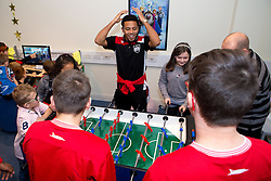 Korey Smith of Bristol City plays table football with children during Bristol City's visit to the Children's Hospice South West at Charlton Farm - Mandatory by-line: Robbie Stephenson/JMP - 21/12/2016 - FOOTBALL - Children's Hospice South West - Bristol , England - Bristol City Children's Hospice Visit