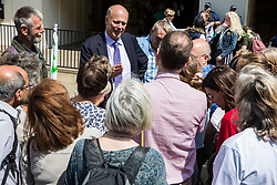 London, UK. 26 June, 2019. Chris Grayling, Secretary of State for Transport, meets climate change activists from his constituency during a mass lobby of Parliament for the climate and environment.