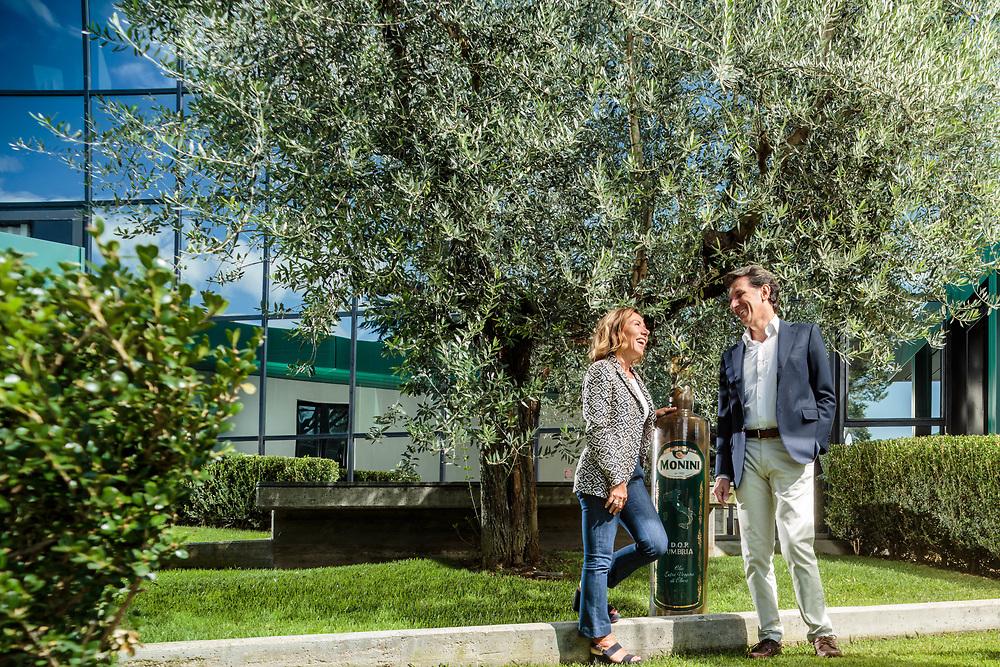 "12 SEP 2015 - Spoleto (PG) - ""Monini"", olio: i fratelli Marina Flora e Zefferino Monini."