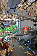 The Commercial aviation section at the Smithsonian Air and Space Museum on the mall in Washington, DC.  Photo by Dennis Brack