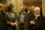 RONNIE WOOD; JOHN HURT; SIR PETER BLAKE, South Bank Show Awards, Dorchester Hotel, Park Lane. London. 20 January 2009 *** Local Caption *** -DO NOT ARCHIVE-© Copyright Photograph by Dafydd Jones. 248 Clapham Rd. London SW9 0PZ. Tel 0207 820 0771. www.dafjones.com.<br /> RONNIE WOOD; JOHN HURT; SIR PETER BLAKE, South Bank Show Awards, Dorchester Hotel, Park Lane. London. 20 January 2009