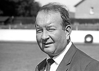 Charlie Tully, manager, Bangor FC, N Ireland, August 1969, 196908000225a<br /> <br /> Copyright Image from Victor Patterson,<br /> 54 Dorchester Park, Belfast, UK, BT9 6RJ<br /> <br /> t1: +44 28 90661296<br /> t2: +44 28 90022446<br /> m: +44 7802 353836<br /> <br /> e1: victorpatterson@me.com<br /> e2: victorpatterson@gmail.com<br /> <br /> For my Terms and Conditions of Use go to<br /> www.victorpatterson.com