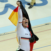 Track Cycling - Olympics: Day 11  Kristina Vogel of Germany celebrates after winning the gold medal in the Women's Sprint Final during the track cycling competition at the Rio Olympic Velodrome August 16, 2016 in Rio de Janeiro, Brazil. (Photo by Tim Clayton/Corbis via Getty Images)