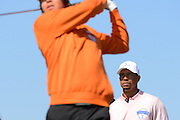 Tiger Woods of the US waits to tee off on the second hole during the 2013 Tavistock Cup at Isleworth Golf and Country Club in Windermere, Florida March 26, 2013. ©2013 Scott A. Miller