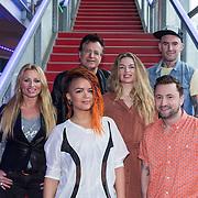 NLD/Hilversum/20140220 - Perspresentatie The Hit, Desray, Eva Somins, George Baker, Sandra van Nieuwland, Ben Saunders en Dennis Weening