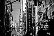 View of the top of the Chrysler Building from Mercer street in SoHo, Manhattan, New York, 2009.