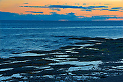 Low tide on the St. Lawrence River at dawn<br />Sainte-Flavie<br />Quebec<br />Canada