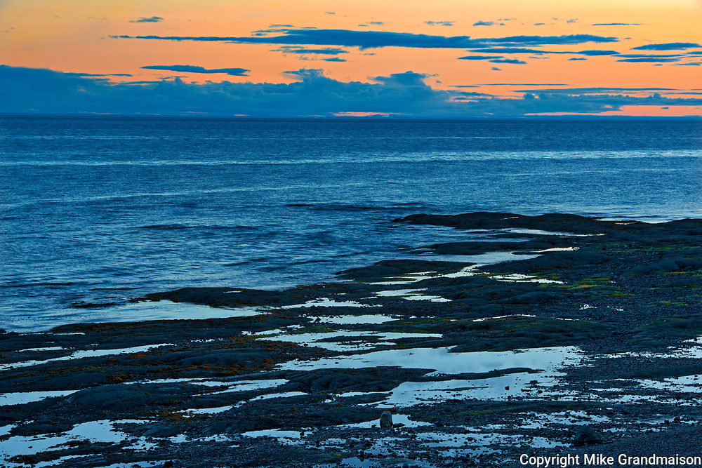 Low tide on the St. Lawrence River at dawn<br />