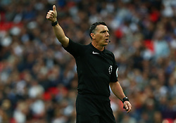 May 9, 2018 - London, England, United Kingdom - Referee Neil Swarbrick.during the English Premier League  match between Tottenham Hotspur and Newcastle United at Wembley, London, England on 09 May 2018. (Credit Image: © Kieran Galvin/NurPhoto via ZUMA Press)