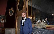 Paul Baccaglini insieme a Leoluca Orlando durante la conferenza stampa tenuta a Villa Niscemi. Il nuovo presidente dell'U.S Città di Palermo Paul Baccaglini.