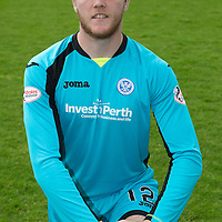St Johnstone FC Photocall, 2015-16 Season....03.08.15<br /> Zander Clark<br /> Picture by Graeme Hart.<br /> Copyright Perthshire Picture Agency<br /> Tel: 01738 623350  Mobile: 07990 594431