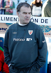 08.01.2012, Stadion Coliseum Alfonso Perez, Getafe, ESP, Primera Division, FC Getafe vs Athletic Bilbao, 18. Spieltag, im Bild Athletic de Bilbao's coach Marcelo Bielsa // during the football match of spanish 'primera divison' league, 18th round, between FC Getafe and Athletic Bilbao at Coliseum Alfonso Perez stadium, Getafe, Spain on 2012/01/08. EXPA Pictures © 2012, PhotoCredit: EXPA/ Alterphotos/ Alvaro Hernandez..***** ATTENTION - OUT OF ESP and SUI *****
