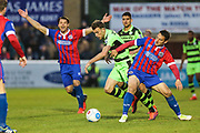 Forest Green Rovers Christian Doidge(9) runs forward during the Vanarama National League first leg play off match between Dagenham and Redbridge and Forest Green Rovers at the London Borough of Barking and Dagenham Stadium, London, England on 4 May 2017. Photo by Shane Healey.
