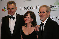 Daniel Day-Lewis, Sally Field and Steven Spielberg at the Lincoln film premiere Savoy Cinema in Dublin, Ireland. Sunday 20th January 2013.
