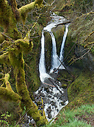 Walk two routes 4 or 5 miles to Triple Falls (~130-foot plunge) in Oneonta Gorge, in Columbia River Gorge National Scenic Area, Oregon, USA.