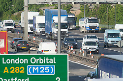 ©Licensed to London News Pictures 13/05/2020<br /> Dartford, UK. Traffic on the A282 anti clock-wise in Dartford, Kent. After seven weeks of Coronavirus lockdown people start to head back to work this morning. Photo credit: Grant Falvey/LNP