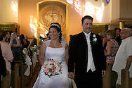 Brooklyn, N.Y.  The wedding ceremony of Christine Neve and Vincent Brace at Saints Simon and Judes R.C. Church on Ave T.  .