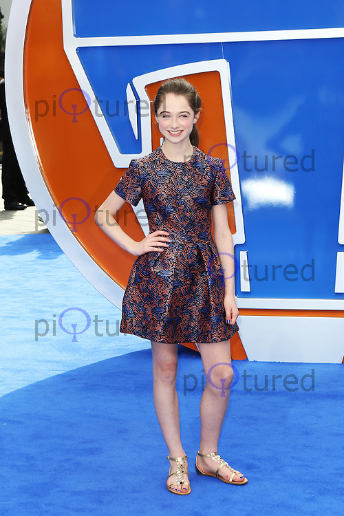 Raffey Cassidy, Tomorrowland: A World Beyond - European Film Premiere, Leicester Square, London UK, 17 May 2015, Photo by Richard Goldschmidt
