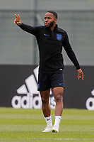 SAINT PETERSBURG, RUSSIA - JUNE 13: Raheem Sterling of England national team gestures during an England national team training session ahead of the FIFA World Cup 2018 in Russia at Stadium Spartak Zelenogorsk on June 13, 2018 in Saint Petersburg, Russia.