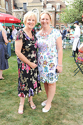 Left to right, LIZ FREEMAN Chairman of the party committee and SHARON PICKERSGILL Project Manager of the Lord's Taverners Diamond Jubilee at the Lord's Taverners Diamond Jubilee Garden Party held in College Gardens, Westminster Abbey, London on 8th July 2010.