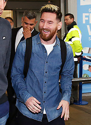 Lionel Messi of FC Barcelona arrives at Manchester Airport - Mandatory by-line: Matt McNulty/JMP - 31/10/2016 - FOOTBALL - Manchester Airport - Manchester, England - Manchester City v Barcelona - UEFA Champions League - Group C