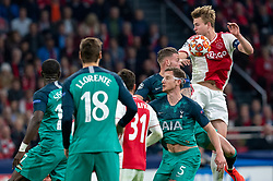 08-05-2019 NED: Semi Final Champions League AFC Ajax - Tottenham Hotspur, Amsterdam<br /> After a dramatic ending, Ajax has not been able to reach the final of the Champions League. In the final second Tottenham Hotspur scored 3-2 / Rasmus Kristensen #2 of Ajax, Jan Vertonghen #5 of Tottenham Hotspur, Matthijs de Ligt #4 of Ajax, Toby Alderweireld #4 of Tottenham Hotspur