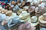 Cowboy hats at Benito Juarez market in Oaxaca, Mexico.