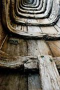 Boat hull at a home in Vaddukoddai.