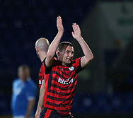 06/10/2017 - St Johnstone v Dundee - Dave Mackay testimonial at McDiarmid Park, Perth, Picture by David Young - Barry Smith applauds the Dundee fans as he comes off the pitch