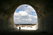 An unfinished tunnel of Highway 6 (also known as Trans-Israel Highway).