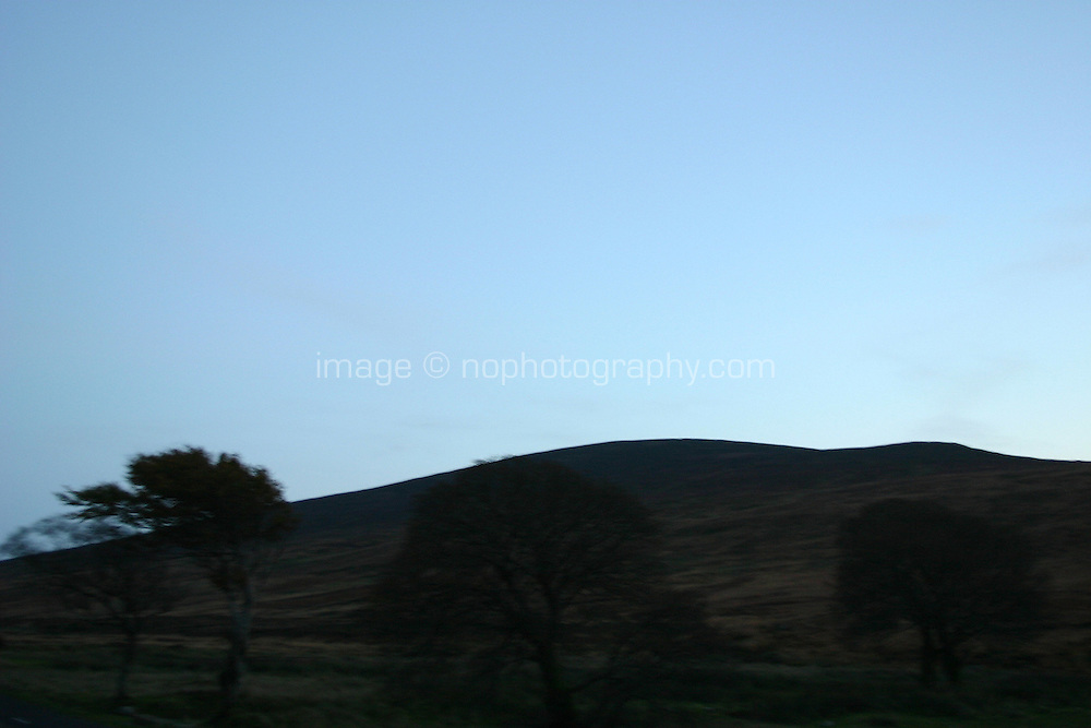 Simple nocturnal landscape, Wicklow, Ireland