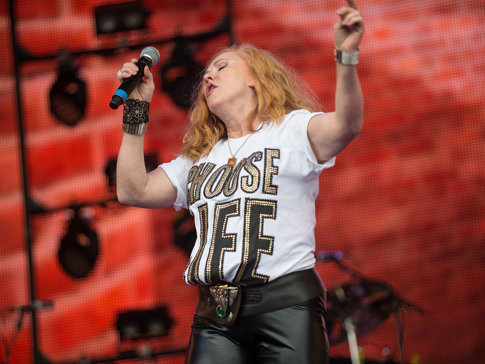 T'pau /Carol Decker in concert at Rewind Scotland, Scone Place, Perth, Scotland