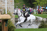 Caroline Gouriet riding MacGregor during the International Horse Trials at Chatsworth, Bakewell, United Kingdom on 12 May 2018. Picture by George Franks.